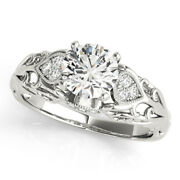 0.85 Ct Real Diamond Engagement Ring Set Solid 950 Platinum Rings Size 5 6 7 8 9