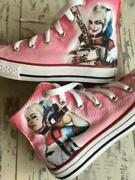 Harley Quinn Kids Custom Converse Shoes Character Personalised Shoes