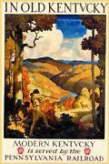 In Old Kentucky Deer Hunting Tourism Train Travel Vintage Poster Repro Free S/h