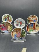 Hallmark Ornaments Collectors Plates 6 Lot 1987-1992 Beautifuly Crafted