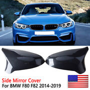 For 2015-2019 Bmw F80 M3 F82 M4 Carbon Fiber Replacement Side Mirror Covers Trim