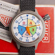1970s Heuer Yacht Timer Nos Box And Papers Wrist Stopwatch Stop Watch Tag Vintage
