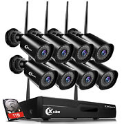 Xvim Wireless Wifi 1080p Outdoor Security Camera System Wide Angle 4/8ch Ip Cctv