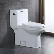 Comfort Height 1.28 Gpf One Piece Toilet Elongated Left-hand Trip Lever W/ Seat