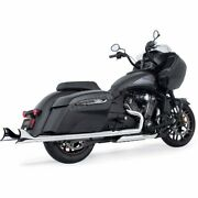 Freedom Perf Chrome 2.5 Cholo Sharktail Slip-ons W/chrome End Caps - In00093