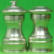Abercrombie And Fitch Peugeot Pewter Salt Shaker/ Pepper Grinder Made In France