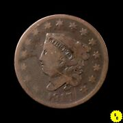 1817 Coronet Head Large Cent 15 Star Variety N-16 Vg Condition Rare Type 96