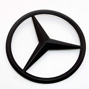 For Mercedes Coupe C257 Emblem Sticker Star Rear Boot Trunk Badge Matte Black