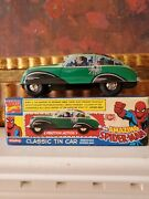 The Amazing Spider-man Classic Schylling Tin Friction Car Marvel New In Box
