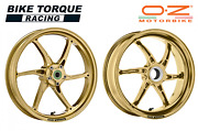 Oz Cattiva Gold Magnesium Road / Race Wheels Fits Ducati Panigale V4 All 18-20