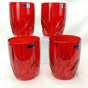 Waterford Marquis Red Glassware 4 Double Old Fashioned Brookside Unused No Box