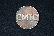1920 / 30and039s Us Army Cmtc Citizens Military Training Camp Em Bos Collar Disc Rare