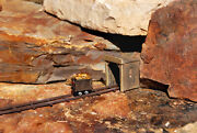 N Scale Mine Cart Madness With Snack Tracks And Tunnel Painted Set