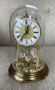 Linden Quartz Anniversary Clock Metal And Plastic Glass Dome Germany Working