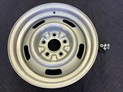 Single 1 Chevy 15x6 Corvette Large Dgx Rally Wheel Restored Lugs And Stem