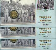 2020 Perth Stamp And Coin Show Victory In The Pacific Pnc Full Set For 2 Days 3pnc