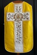 Gold Brocade Vestment With Chalice Veil Priest Stole And Maniple Vestment Cope
