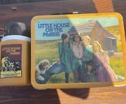 1978 Vintage Little House On The Prairie Metal Lunch Box And Thermos