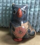 Handmade Pottery Owl Signed By Pablo Jimon