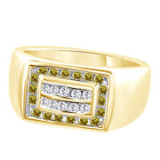Cubic Zirconia Menand039s Wedding Band Ring Hip 14k Yellow Gold Over Sterling Silver