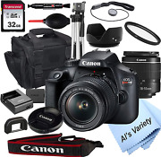 Canon Eos Rebel T100 Dslr Camera With 18-55mm F/3.5-5.6 Zoom Lens + 32gb Card