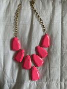 Rare Vintage Gold Plated Neon Pink Harlow Necklace Kendra Scott