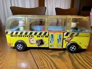 Vintage 1956 Fisher-price School Bus 983 W/3 Figures 1959 Issue Free Shipping
