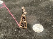 One Of A Kind Diamond And Gold Oil Derrick Pin