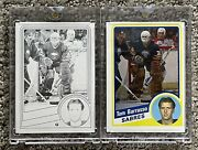 1984 85 Topps Vault Tom Barrasso 1/1 Color Separation Proof Rookie Rc Psa Bgs