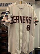 Michael Conforto Oregon State Beavers Game Used College World Series Jersey 2013