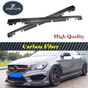 For Benz A200 A45amg Cla250 Cla45amg 13-18 Real Carbon Side Skirt Extension Lip