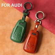 Leather Remove Car Key Fob Case Cover Shell For Audi A4 A5 S4 Q7 Sq7 Tt Fashion
