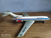 Rare Vintage Boeing 727 Battery Powered Tin Toy Airplane Of 60's Made In Japan