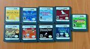 Lot Of 9 Nintendo Game Cartridge For Game Boy Ds - Dogs, Brain Age Etc..