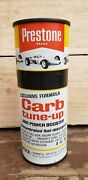 Vtg Prestone Oil Can Nos Racecar Graphic Carb Tune-up Union Carbide Sign Racing