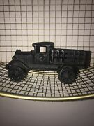 Vintage  Cast Iron Toy Stake Truck
