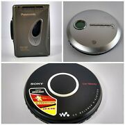 2 Portable Cd Players And 1 Portable Cassette Player Parts Only
