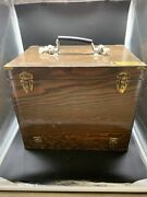Vintage Large Wood Tackle Box For Deep Sea Fishing Trips