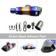 Universal Stainless Steel Motorcycle Exhaust Pipe Reduce Noise Suitable For 51mm