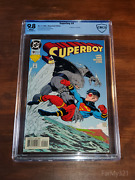 Superboy 9 9.8 Nm/mt Wht Cbcs 1st King Shark. Mislabeled As Newsstand. Not Cgc
