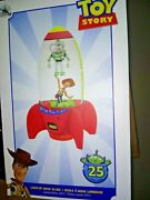 Disney Store Toy Story 25th Anniversary Light Up Snow Globe Limited Le 2,500