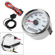 1pc 85mm White Gps Digital Speedometer Ip65 0-160mph For Car Truck Boat Gauges
