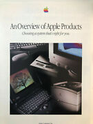 An Overview Of Apple Products 1993 24-p Color Product Brochure Mac, Newton...