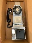 Vintage Automatic Electric Company 3 Slot Coin Rotary Payphone Chrome
