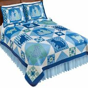 Multi-colored Cat Checkered Patterns Patchwork Quilt