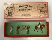 Vintage Orig Boxed Set Hunting Day At Rorkes Drift Four Feather Toys Hand Paint