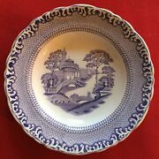 Antique Rorstrand Sweden Transferware Soup Bowl Plate Blue And White Swedish