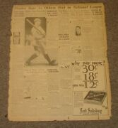 April 24 1927 And039new York Americanand039 Newspaper Page-lou Gehrig-ny Yankees
