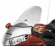 01-05 Honda Gl1800 Show Chrome Sweptback Windshield With Vent - Clear Clear