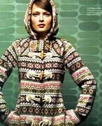 Anthropologie Archival Collection Fair Isle Sweater Coat By Sparrow Sz Xs -nwot